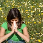 woman with allergy, hayfever gets relief from natural chiropractic care